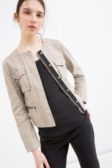 100% cotton jacket with buttons and zip