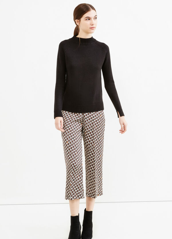 Crop trousers with diamond pattern   OVS
