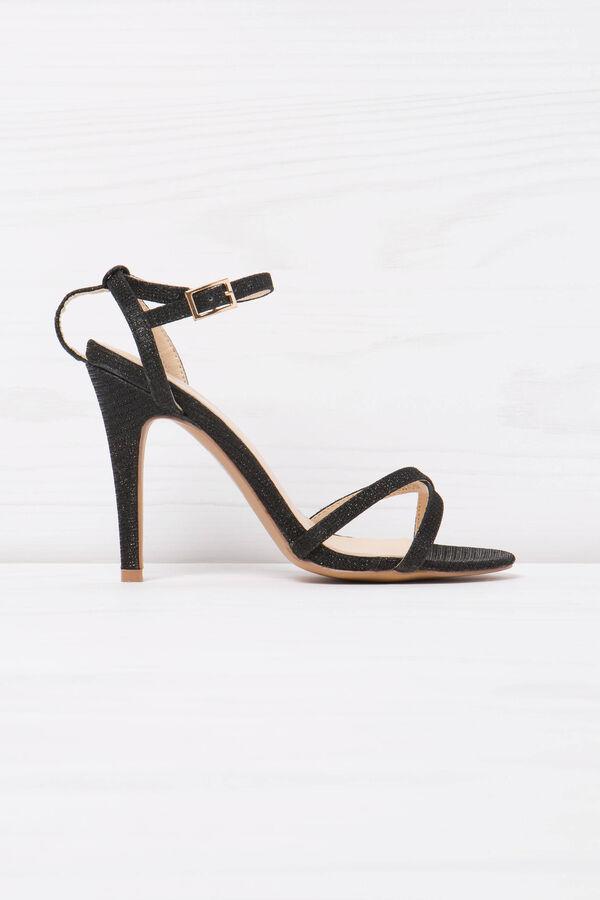 Sandals with glitter heel | OVS