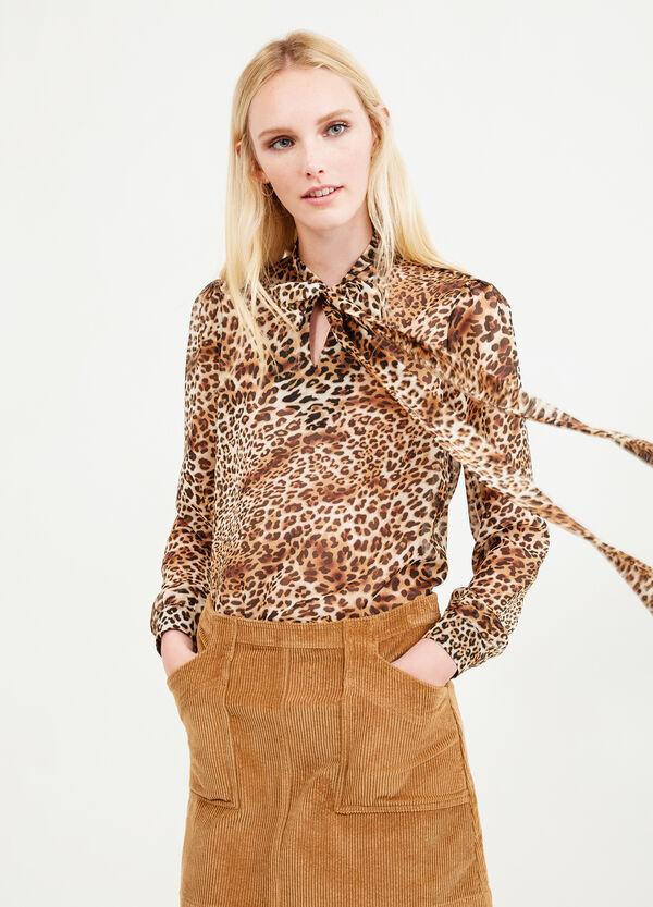 High waist corduroy skirt   OVS