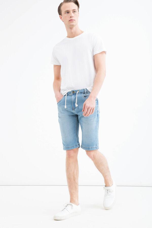 Slim-fit stretch denim Bermuda shorts | OVS