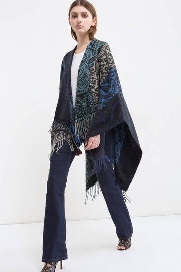 Jacquard pattern maxi scarf, Multicolour, hi-res
