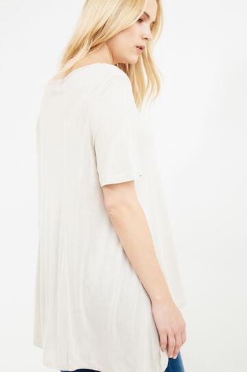 Boat neck Curvy T-shirt, Chalk White, hi-res