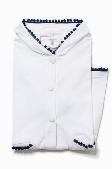 Short sleeved dressing gown with hood