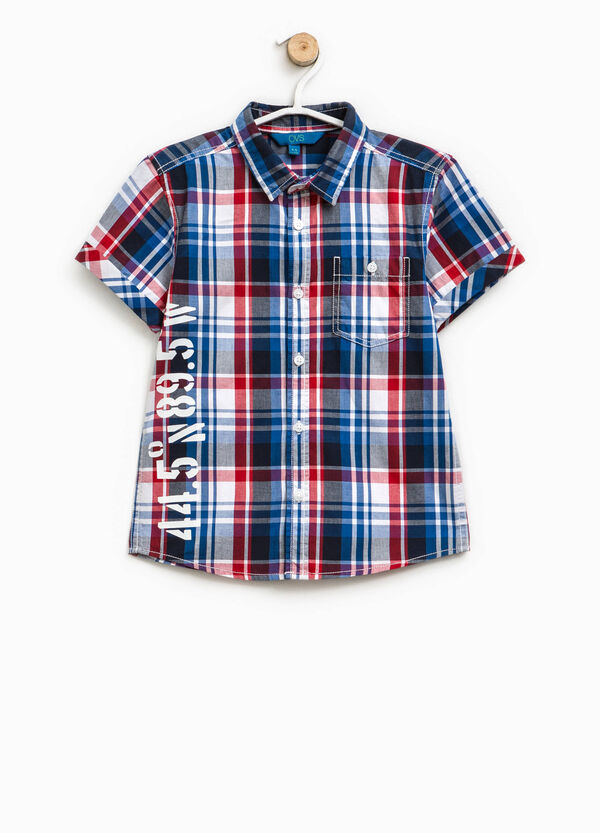 Tartan shirt with lettering print | OVS