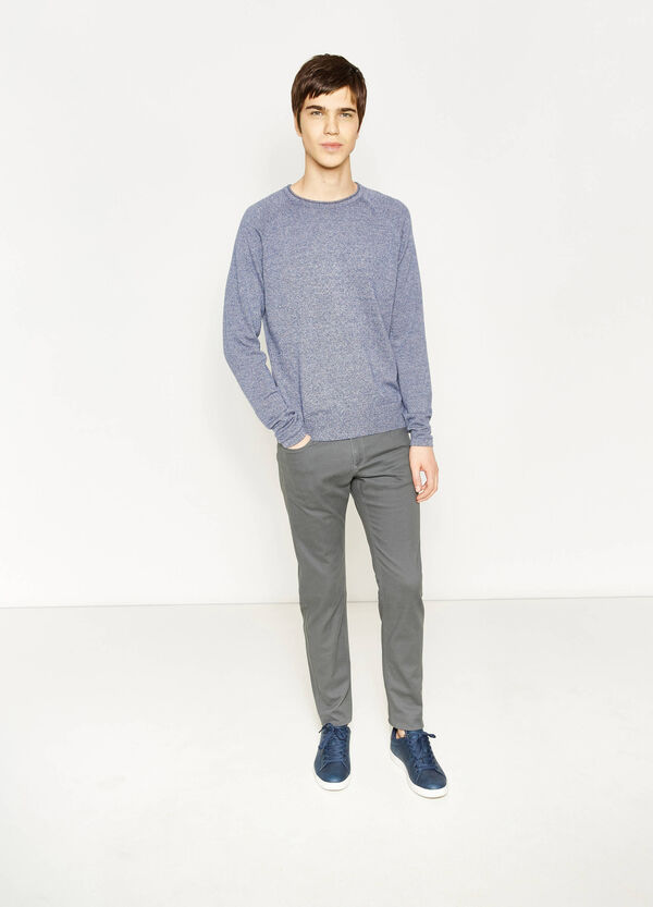Pantaloni slim fit in cotone stretch | OVS