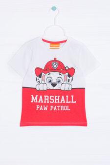 Printed T-shirt in 100% cotton, Cream, hi-res
