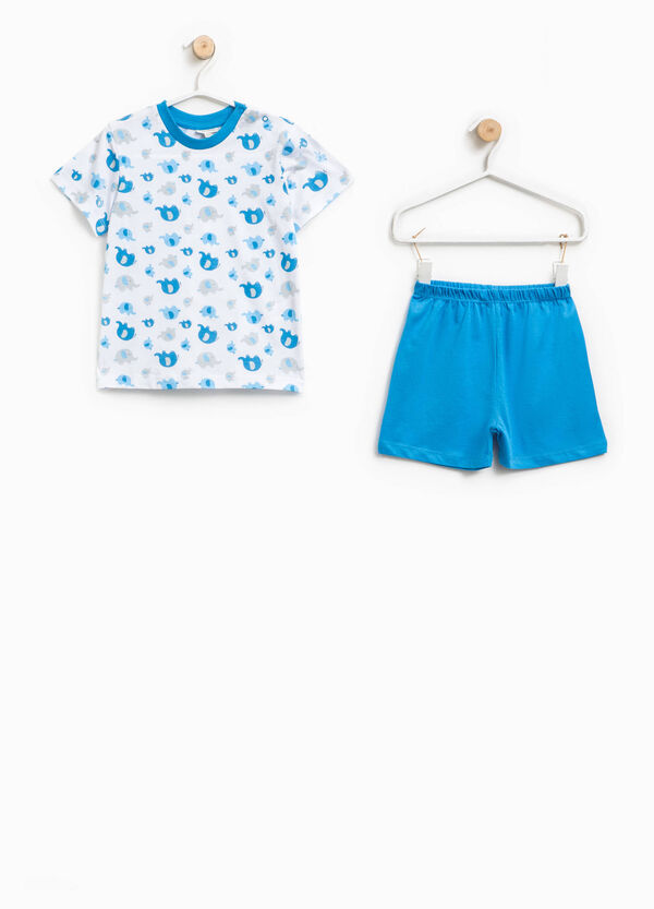 100% Biocotton pyjamas with elephants pattern | OVS