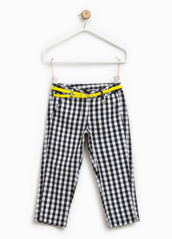 Checked trousers with butterfly patch | OVS