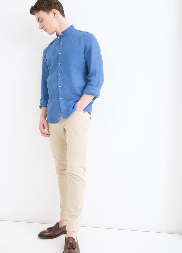 Camicia puro lino collo alla coreana   OVS