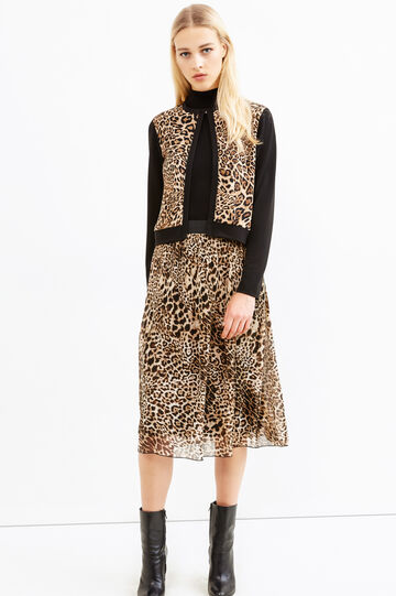 Stretch animal print blazer, Multicolour, hi-res