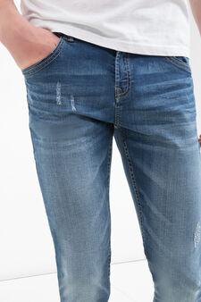 Jeans super skinny fit used, Denim, hi-res