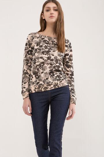 100% cotton floral T-shirt