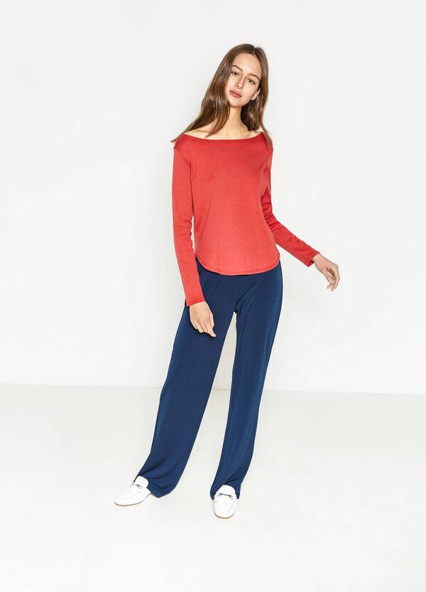 Camiseta en algodón 100% con bajo redondeado | OVS