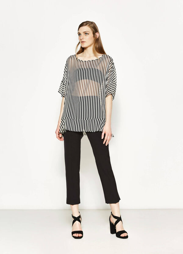 Striped blouse with batwing sleeves | OVS
