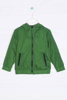 Giacca a vento tinta unita, Verde/Grigio, hi-res