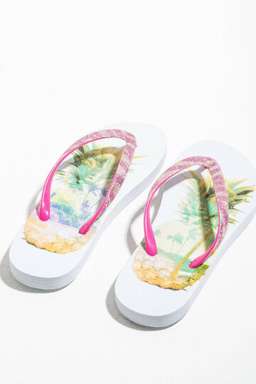 Rubber flip flops with print