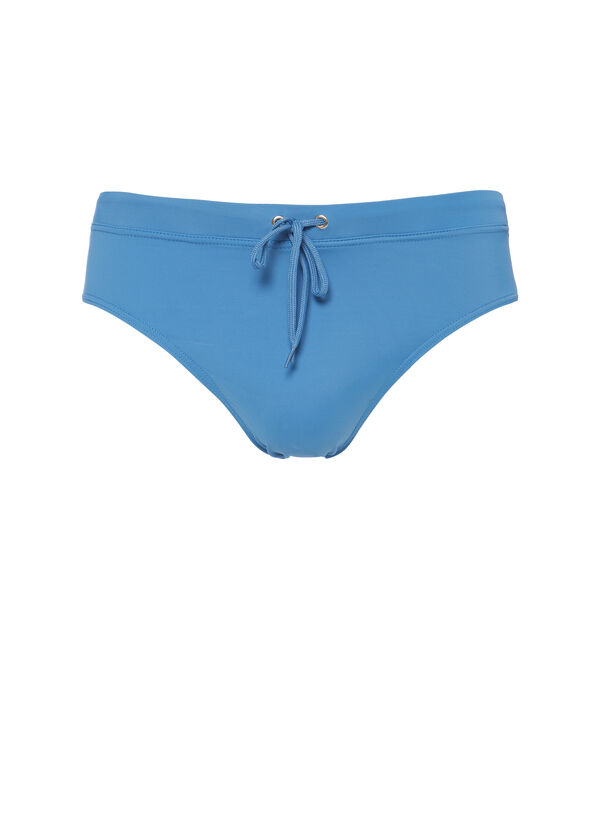 Solid colour stretch swimming briefs with drawstring | OVS