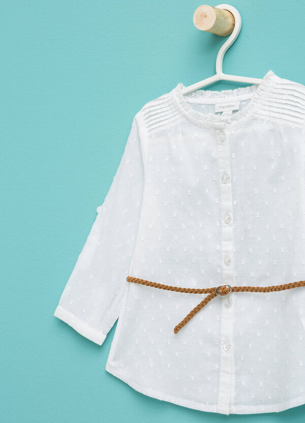 Speckled shirt with belt | OVS