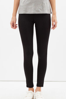 Super-stretch gym pants, Black, hi-res