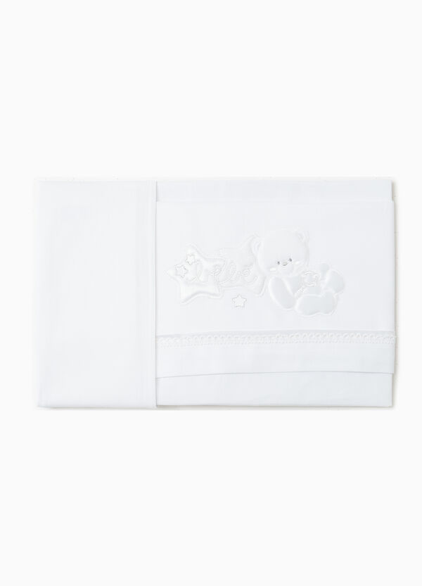 Set of sheets and pillowcase with animal patches | OVS