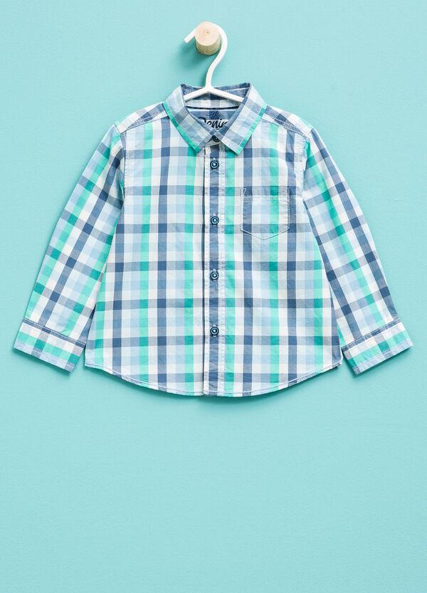 Camisa de cuadros de algodón 100% | OVS