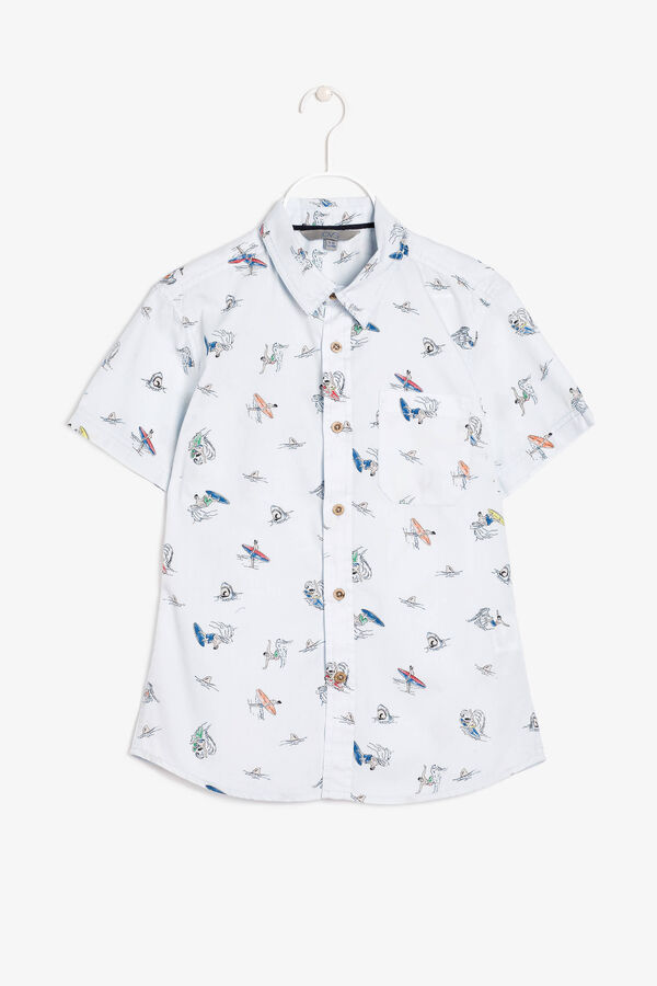 Cotton shirt with a printed pattern | OVS
