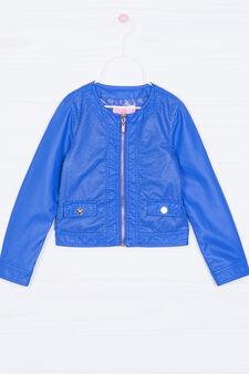 Solid colour viscose jacket., Royal Blue, hi-res