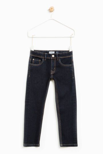 Straight-fit stretch jeans, Dark Wash, hi-res