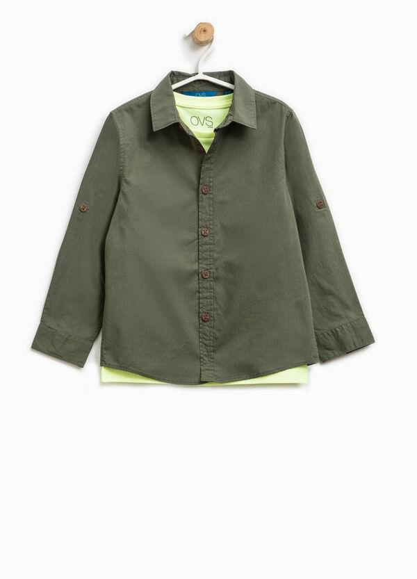 Completo camicia e t-shirt con stampa   OVS