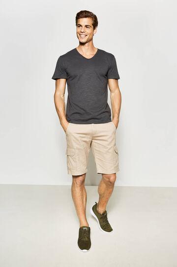 100% cotton cargo Bermuda shorts