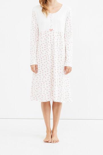 Long sleeved nightshirt, Cream White, hi-res
