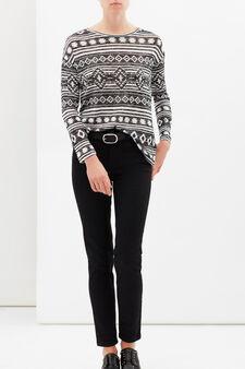 Printed sweatshirt, Black, hi-res