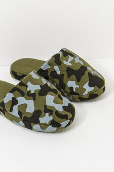Camouflage slippers, Army Green, hi-res