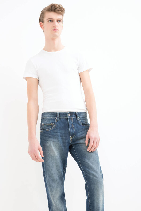 Worn-effect, straight-fit jeans | OVS