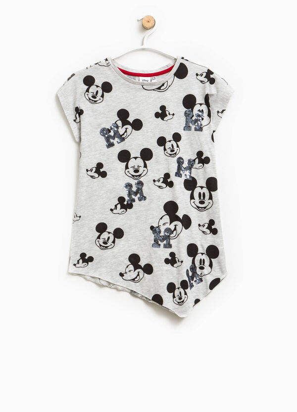 Mickey Mouse patterned T-shirt with sequins | OVS
