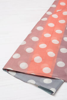 Multicoloured print scarf, Multicolour, hi-res