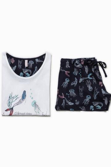 Cotton pyjamas with print and pattern