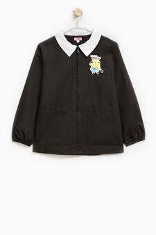 Smock with Minions patch, Black, hi-res