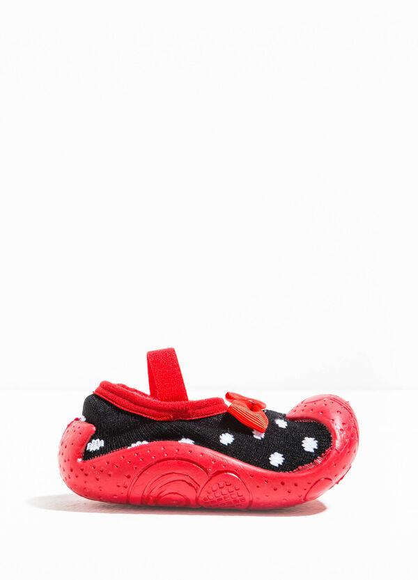 Pantofole calzino fantasia a pois | OVS