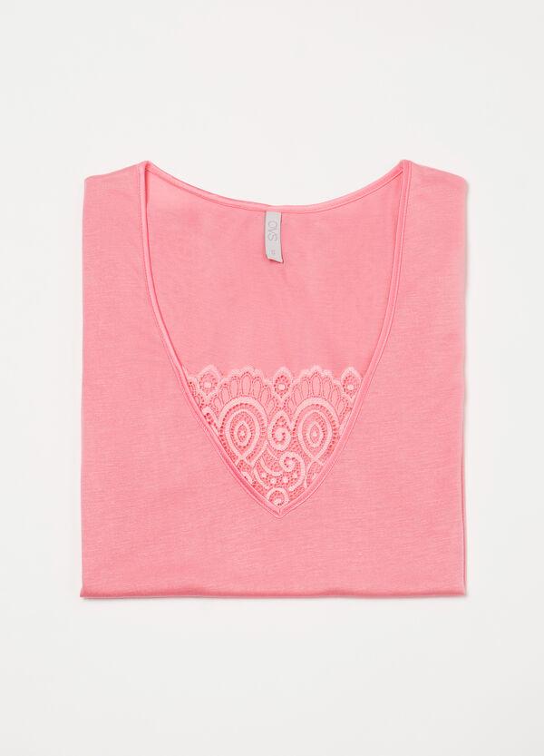 Pyjama top with lace insert | OVS