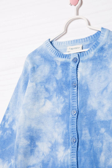 Cardigan puro cotone delavé, Azzurro chiaro, hi-res