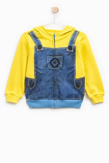 Sweatshirt with dungarees motif print