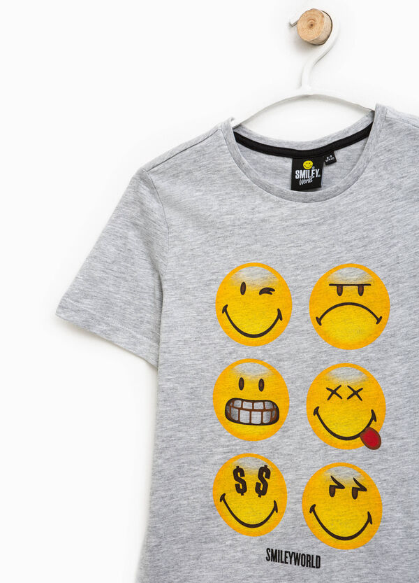 T-shirt mélange con stampa Smiley | OVS