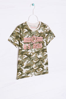 100% cotton camouflage T-shirt, Grey, hi-res