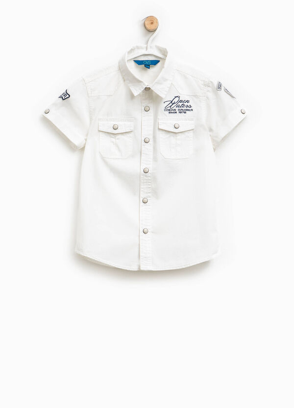 Shirt with patch and embroidery | OVS