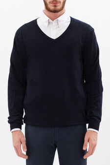 Rumford wool-viscose blend pullover, Blue, hi-res