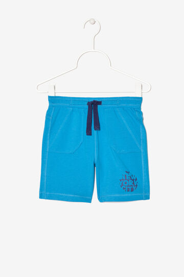 Shorts with print, Turquoise Blue, hi-res