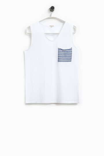 Smart Basic striped top with pocket