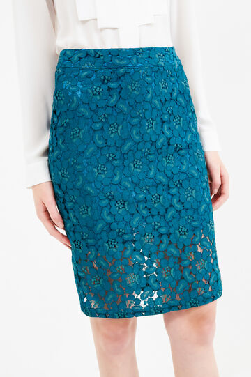 Pencil skirt in solid coloured lace, Green, hi-res